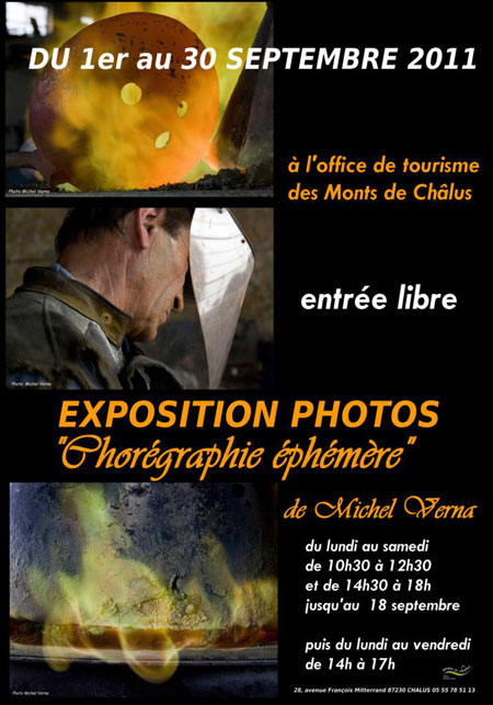 PHOTOGRAPHIE - Vernissage de VERNA le vendredi 02 septembre 2011 à partir de 18h00.