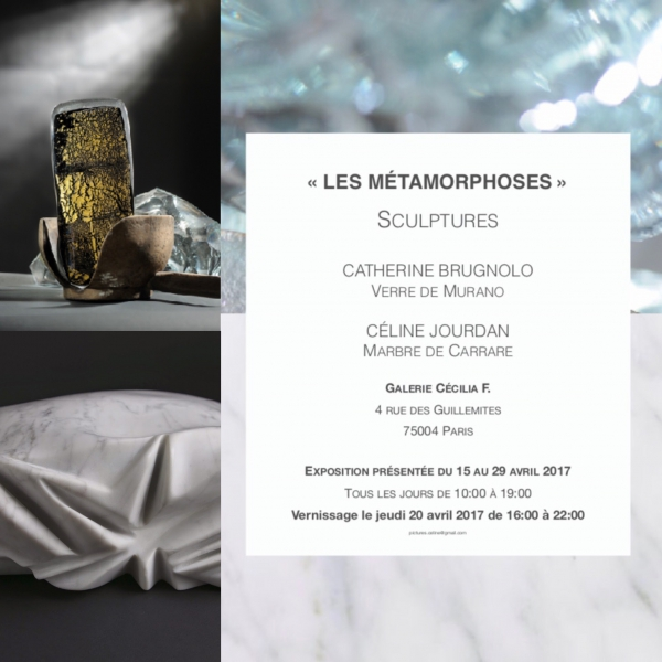 SCULPTURE - Vernissage de CATHERINE BRUGNOLO ET CÉLINE JOURDAN le jeudi 20 avril 2017 à partir de 19h00.