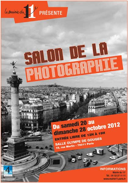 PHOTOGRAPHIE - Vernissage de Photographes Parisiens ASSOCIATION le vendredi 19 octobre 2012 à partir de 18h30.