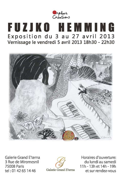 DESSIN - Vernissage de FUZJKO HEMMING le vendredi 05 avril 2013 à partir de 18h30.