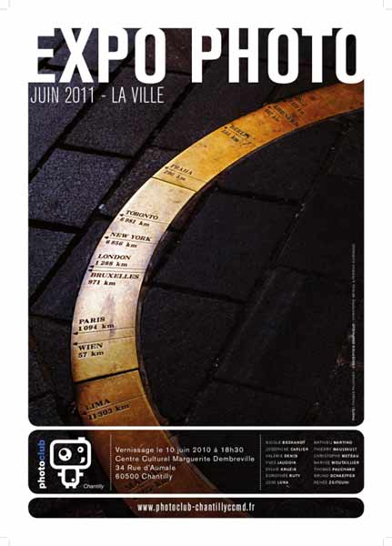 PHOTOGRAPHIE - Vernissage de PHOTO CLUB CHANTILLY le vendredi 10 juin 2011 à partir de 18h30.
